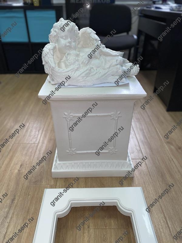 Скульптура из Литьевого мрамора №06 Ангел с зайцем.