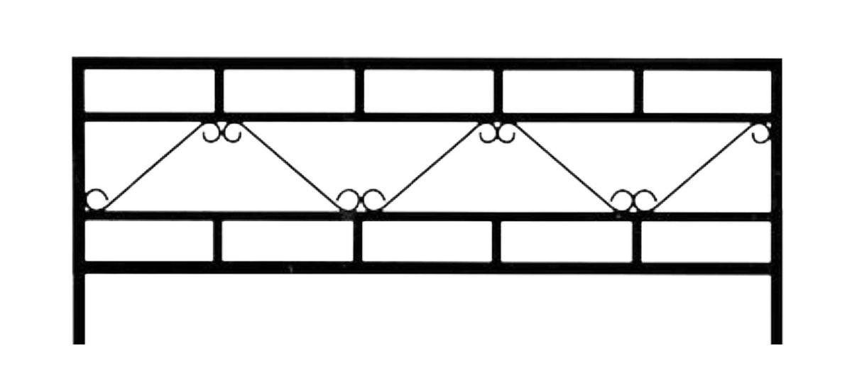 Ограда на могилу стальная № 030
