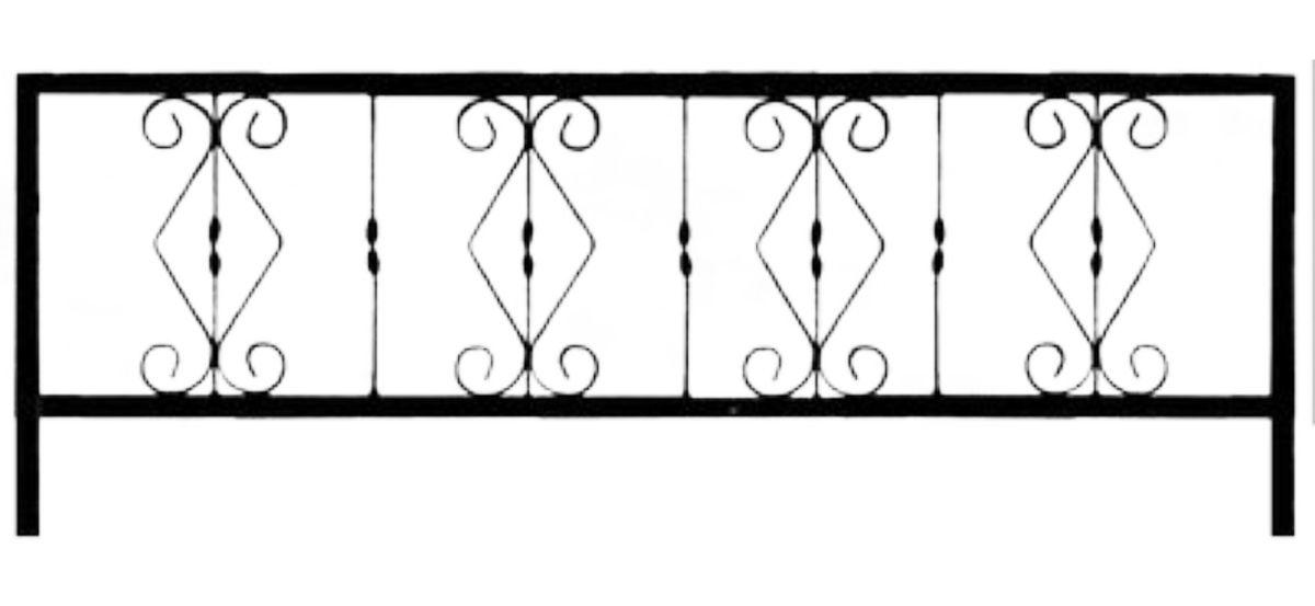 Ограда на могилу стальная № 033