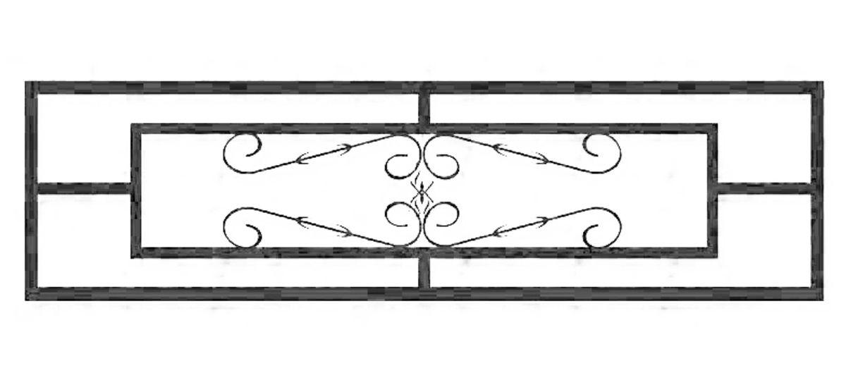 Ограда на могилу стальная № 038