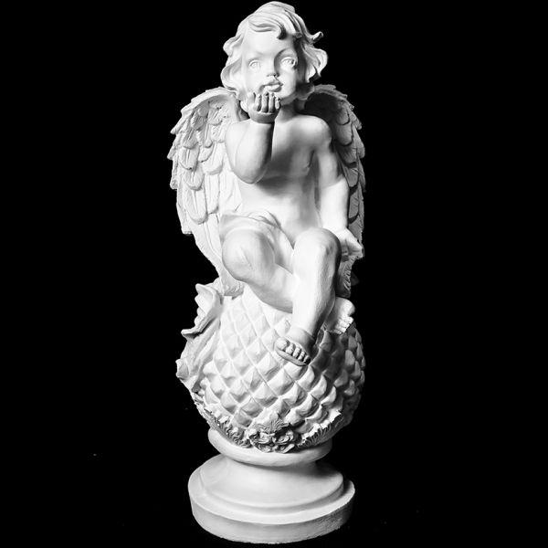 Скульптура из Литьевого мрамора №02 Ангел на кокосе.