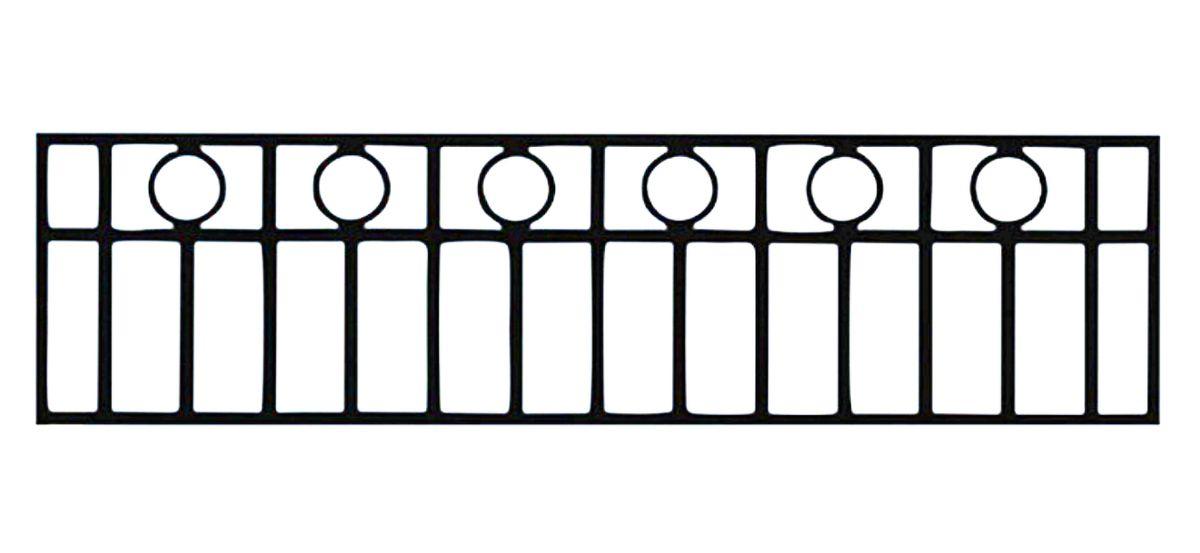 Ограда стальная № 046