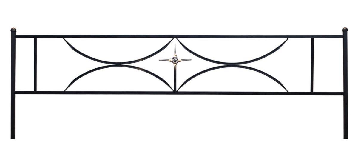 Ограда на могилу (Дуговая 15 с крестом)