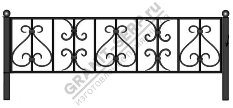 Кованная ограда № 10