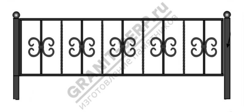 Кованная ограда № 12