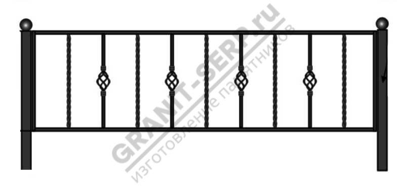 Кованная ограда № 15