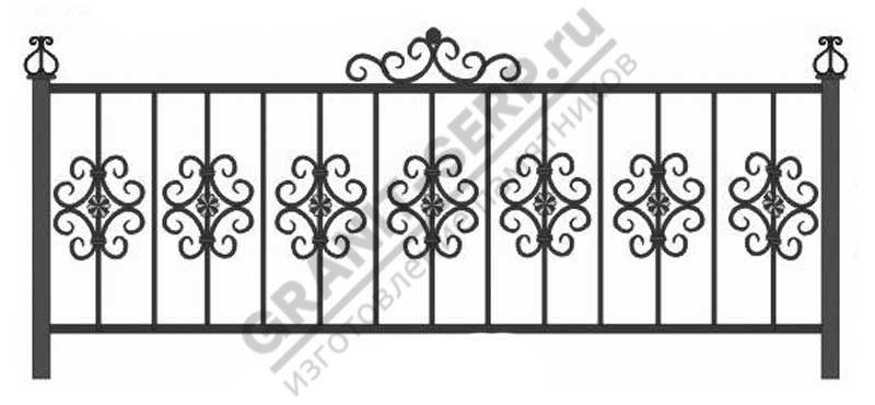 Кованная ограда № 17