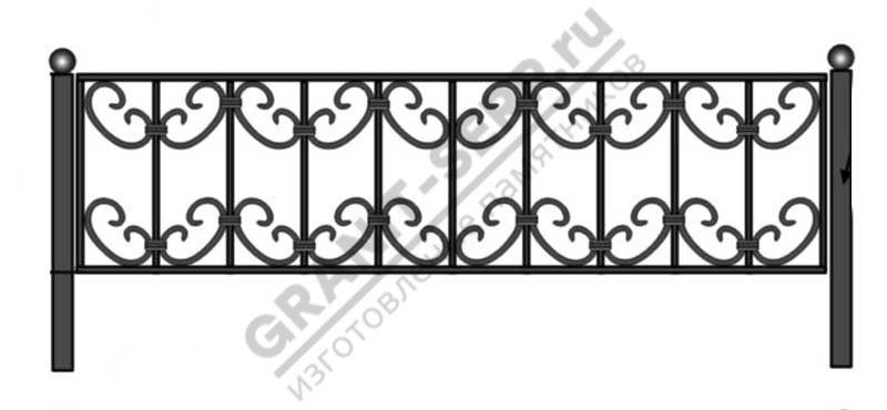 Кованная ограда № 2