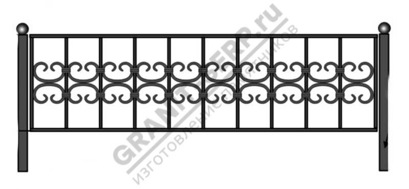 Кованная ограда № 3