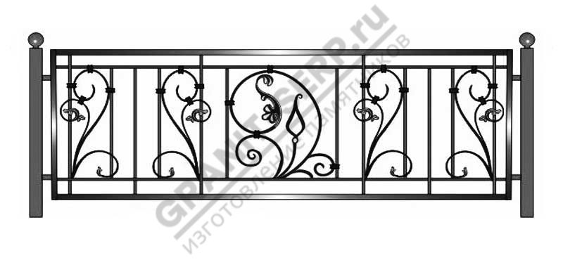 Кованная ограда № 21