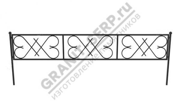 Кованная ограда № 25-04