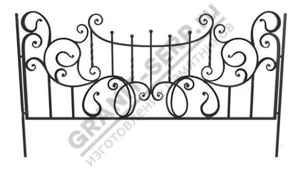 Кованная ограда № 25-08