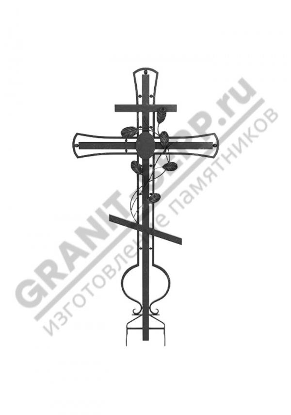 Кованный надгробный крест 002