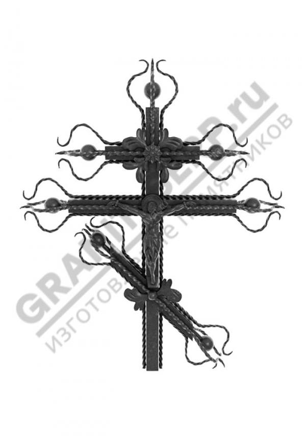 Кованный надгробный крест 003