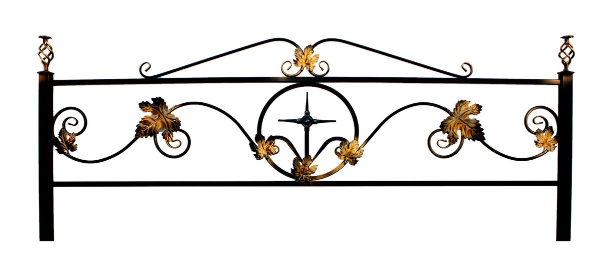 Ограда на могилу (Кованный лист)