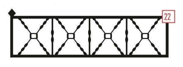 Ограда на могилу стальная № 22