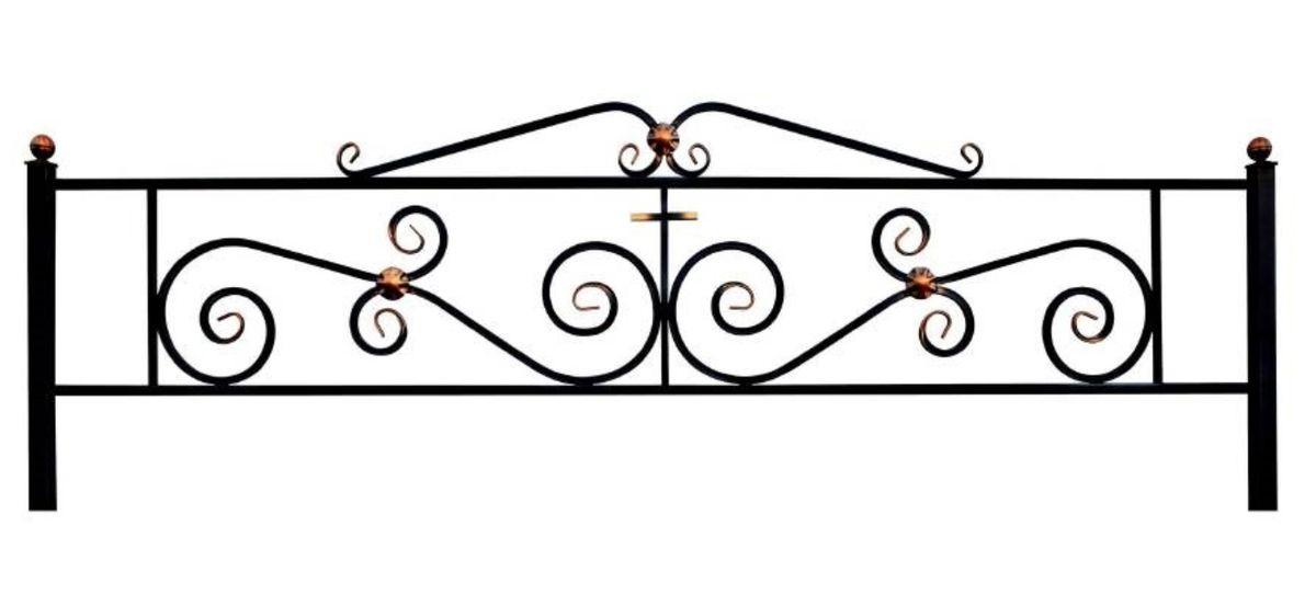 Ограда на могилу (Паллада с навершием)