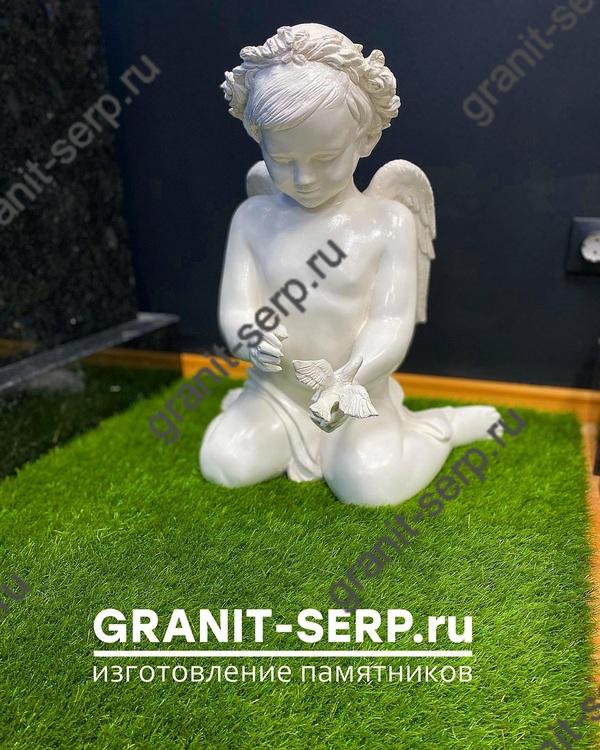 Скульптура из Литьевого мрамора №048 Девочка с птичкой.