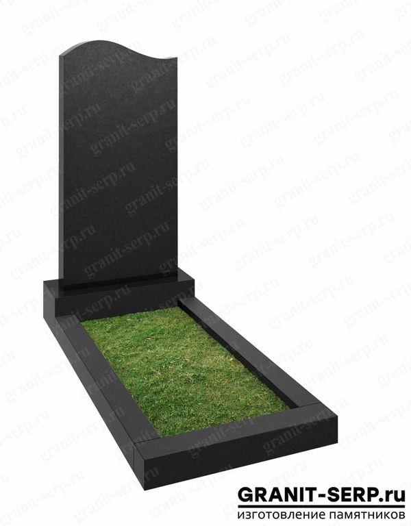 Надгробный памятник из черного гранита №1102.