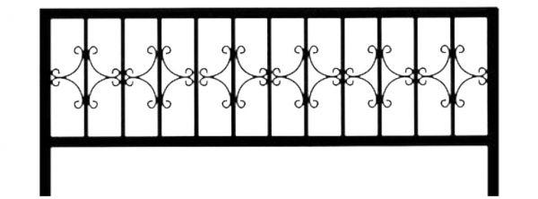 Ограда на могилу стальная № 025