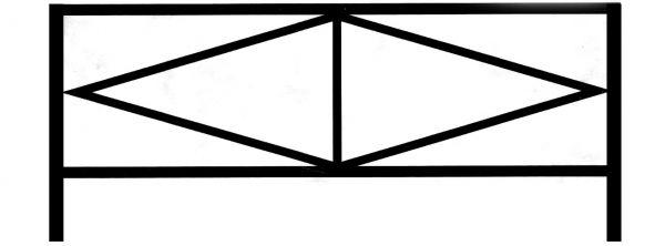 Ограда на могилу стальная № 028