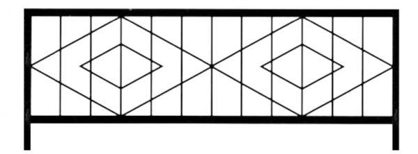 Ограда на могилу стальная № 031