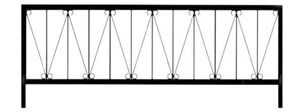 Ограда на могилу стальная № 032