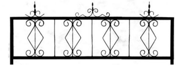 Ограда на могилу стальная № 034