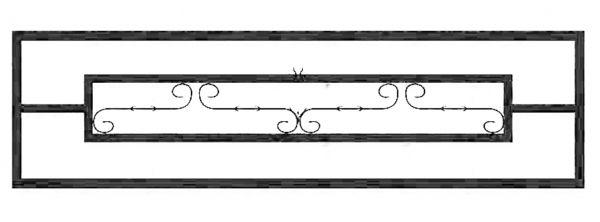 Ограда на могилу стальная № 037