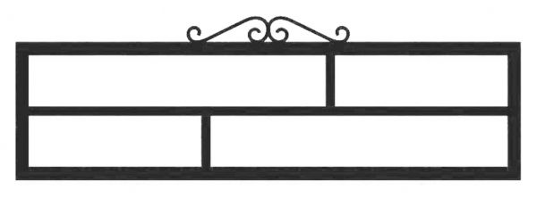 Ограда на могилу стальная № 039