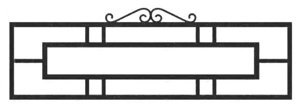 Ограда на могилу стальная № 040