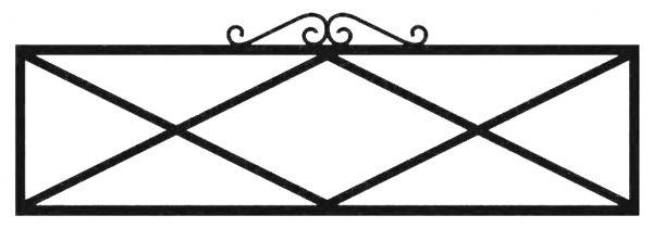Ограда на могилу стальная № 041