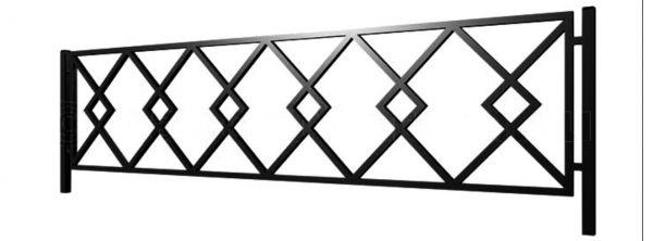 Ограда на могилу стальная № 042