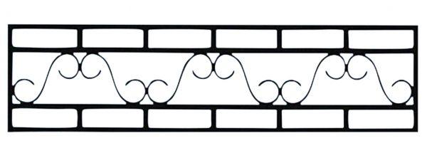 Ограда на могилу стальная № 047