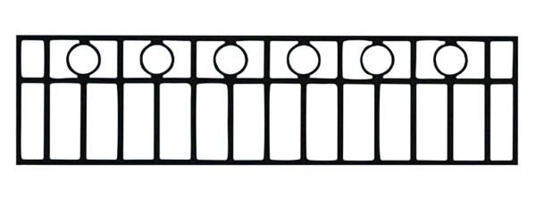 Ограда на могилу стальная № 046