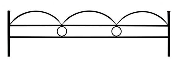 Ограда на могилу (Дуговая 15 с кольцом)