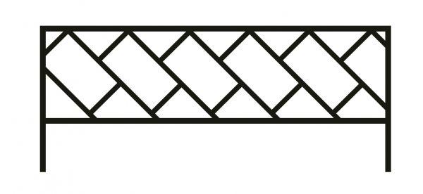 Ограда на могилу стальная № 43