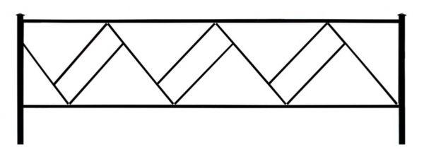 Ограда на могилу (Флажок)