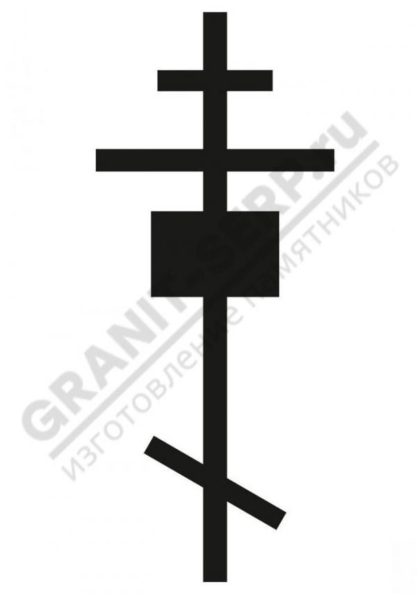 Крест метал. 001