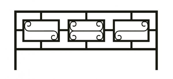 Ограда на могилу стальная № 044