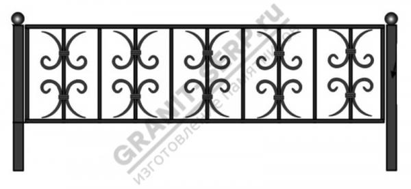 Кованная ограда № 11