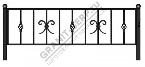 Кованная ограда № 16