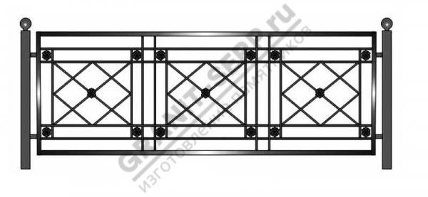 Кованная ограда № 20