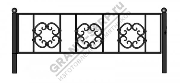 Кованная ограда № 5