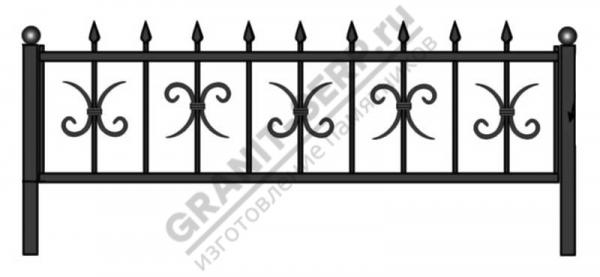 Кованная ограда № 9
