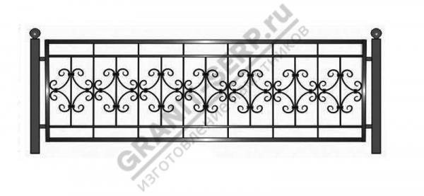 Кованная ограда № 23