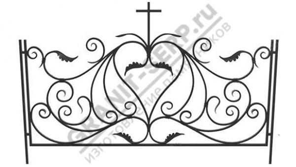 Кованная ограда № 25-011