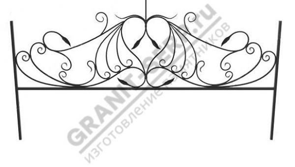 Кованная ограда № 25-012