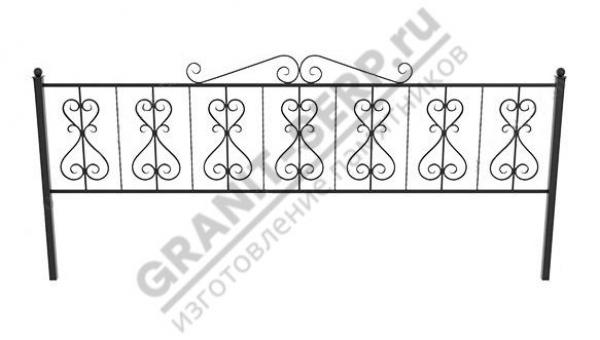 Кованная ограда № 25-02