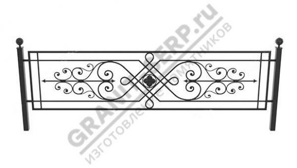 Кованная ограда № 25-05
